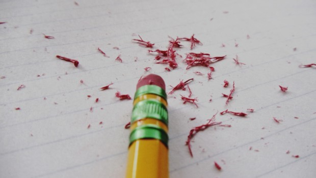 Learn from mistakes stress pencil rubber
