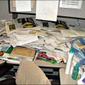 Keep it simple to reduce stress cluttered desk