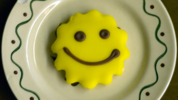 Optimism helps stress smilie face