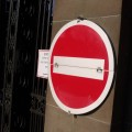 Say no help stress no entry sign