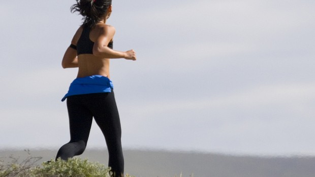 Shape up to beat stress woman jogger
