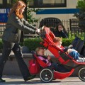 stressed mothers bullied children stroller