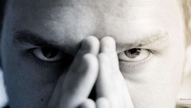 Workplace bullies stress man