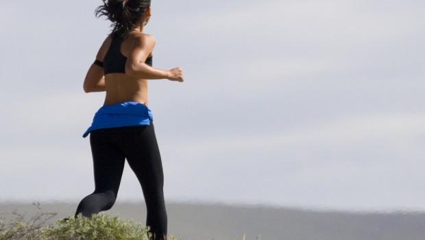 Shape up to beat stress woman jogger