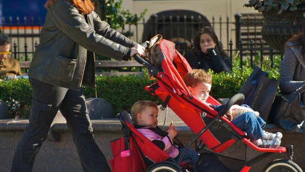 stressed mothers bullied children stroller